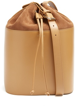 A.P.C. Claire leather and suede bucket bag
