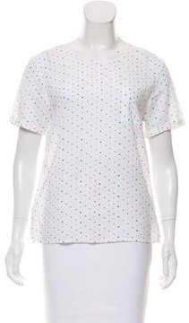Chinti and Parker Star Print Short Sleeve Top