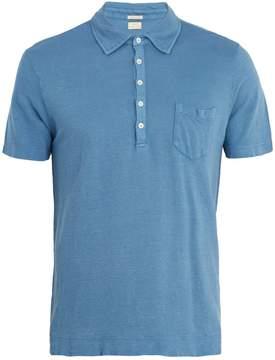 Massimo Alba Short-sleeved linen polo shirt