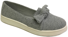 Bamboo Heather Gray Bow-Accent Habit Sneaker