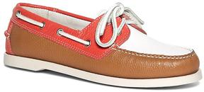 Brooks Brothers Color-Block Calfskin Boat Shoes