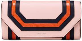 Tory Burch GEO ENVELOPE CONTINENTAL WALLET - BALLET PINK OCTAGON SQUARE - STYLE
