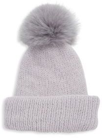 Eugenia Kim Maddox Fox Fur Pom Knit Hat