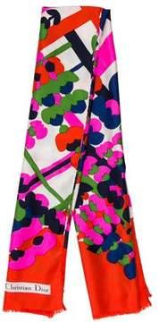 Christian Dior Printed Silk Scarf