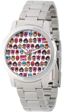 Marvel Comics Mens Silver Tone Strap Watch-Wma000062