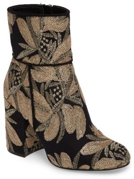 Steve Madden Women's Goldie Sequin Embroidered Bootie