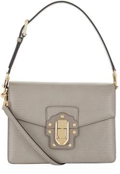 Dolce & Gabbana Lucia Embossed Leather Shoulder Bag - MULTI - STYLE