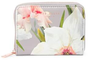 Ted Baker Vallie Chatsworth Bloom Small Zip Leather Coin Purse
