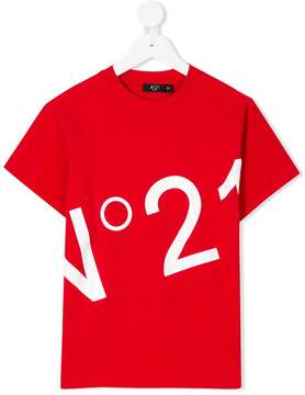 No.21 Kids logo print T-shirt