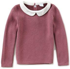 Edgehill Collection Little Girls 2T-6X Peter-Pan Collar Long-Sleeve Top