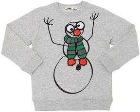 Stella McCartney Snowman Print Organic Cotton Sweatshirt
