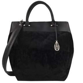 Amanda Wakeley Black Shearling Neeson Shopper Bag