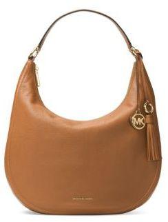 MICHAEL Michael Kors Tassel Leather Hobo Bag - BLACK - STYLE