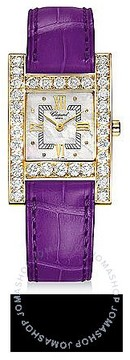 Chopard H Square Mother of Pearl Dial Yellow Gold Diamond Ladies Watch