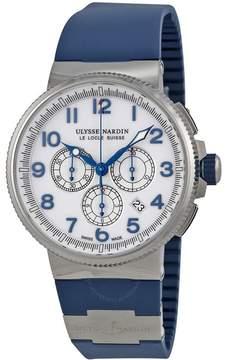 Ulysse Nardin Maxi Marine Chronograph Automatic White Dial Men's Watch