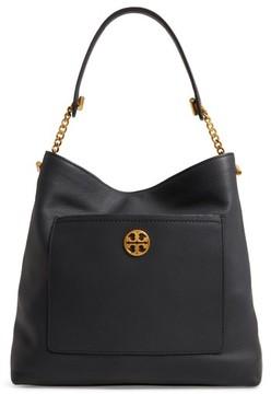 Tory Burch Chelsea Chain Leather Hobo - Black - BLACK - STYLE