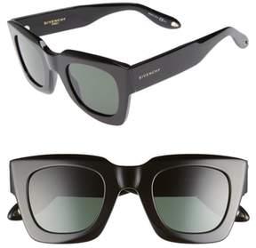 Women's Givenchy 48Mm Square Sunglasses - Black