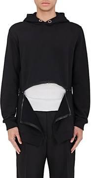 Givenchy GIVENCHY MEN'S ZIP-BOTTOM FLEECE HOODIE