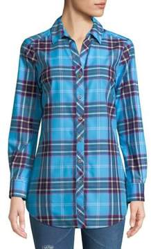 Foxcroft Fay Johnny Collar Shaped Button-Down Collar Shirt