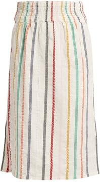 Ace&Jig Ramona embroidered-stripe cotton skirt