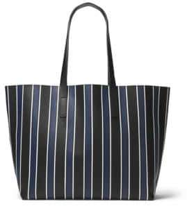 Michael Kors Stripe Leather Tote - SAPPHIRE - STYLE