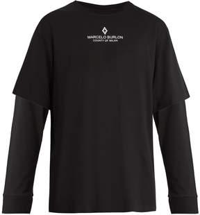 Marcelo Burlon County of Milan Snake Skeleton-print long-sleeved cotton T-shirt