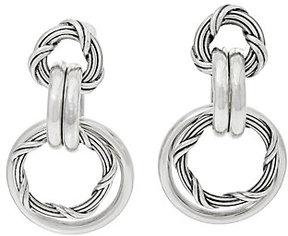 Peter Thomas Roth Sterling Signature Mixed Link Hoop Earrings