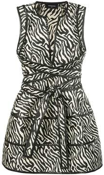 DSQUARED2 animal print plunge dress