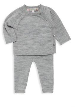 Bonpoint Baby's Two-Piece Long Sleeve Top & Pants Set