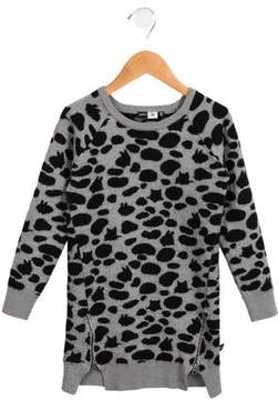 Molo Girls' Wool-Blend Sweater Dress
