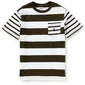Ralph Lauren Big Boys 8-20 Short-Sleeve Striped Pocket Tee