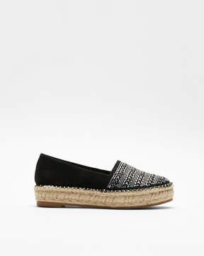 Express Embellished Espadrille Slip-On Shoes