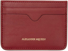 Alexander McQueen Red Leather Card Holder