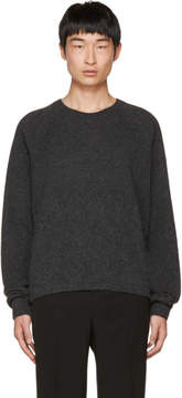 Lanvin Grey Alpaca Crewneck Sweater