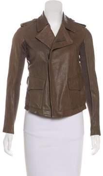 Edun Leather Zip-Up Jacket