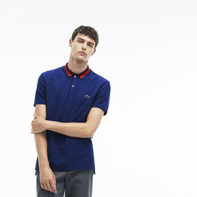 Lacoste Men's Regular Fit Piped Cotton Piqu Polo
