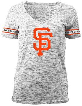 5th & Ocean Women's San Francisco Giants Space Dye Round Sleeve T-Shirt