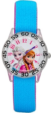 Disney Disney's Frozen Anna & Elsa Girls' Time Teacher Watch