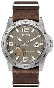 Citizen AW7039-01H Brown Stainless Steel Eco-Drive PRT Men's Watch