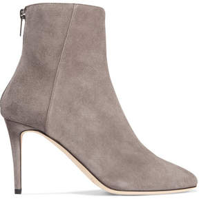 Jimmy Choo Duke 85 Suede Ankle Boots - Light gray