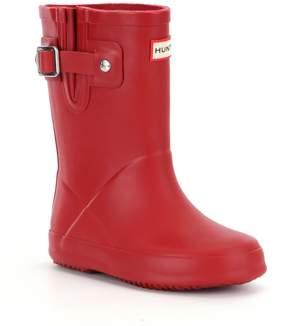Hunter Girls' Flat Sole Waterproof Rain Boots