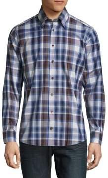 Robert Talbott Casual Plaid Cotton Long-Sleeve Sportshirt