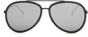 FENDI Double-rim aviator metal sunglasses