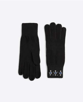 Ann Taylor Embellished Knit Gloves