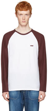 Ami Alexandre Mattiussi Burgundy Baseball T-Shirt