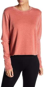 Alternative Elbow Cutout Cropped Pullover