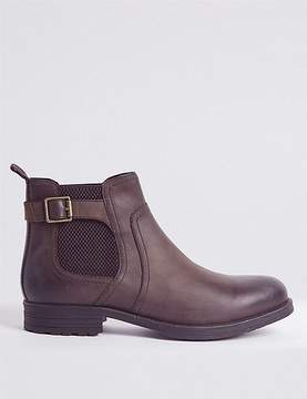 Marks and Spencer Leather Buckle Chelsea Boots