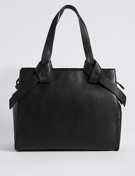 Marks and Spencer Leather Knot Detail Tote Bag