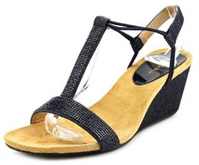 Style&Co. Style & Co Mulan 2 Women Open Toe Synthetic Blue Wedge Sandal.