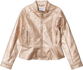 Mayoral Rose Gold Applique Biker Jacket